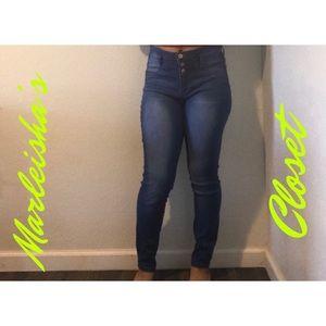 Dark Wash Lei Skinny Jeans